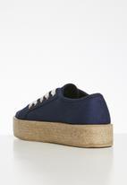 Cotton On - Canvas espadrille sneaker - navy