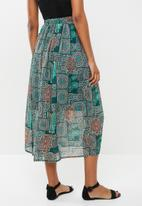 edit - Midi flared skirt - muti