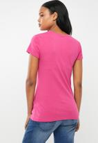 POLO - Allie pont stretch tee - pink