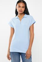 POLO - Eva zip detail golfer - blue