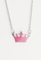 Cool Kids - Girls watch & tiara pendant set - pink & silver