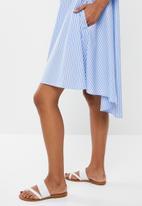 POLO - Danica stripe dress - blue