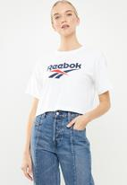 Reebok - CL v crop tee - white