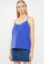 New Look - Cleo cross back cami - blue
