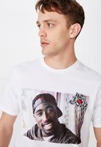Cotton On - 2pac poetic justice fence tee - white