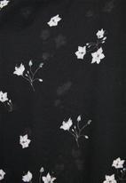 Superbalist - Button thru fit & flare dress - black & grey