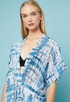 Superbalist - Drawcord cover-up - blue & white