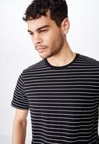 Cotton On - Tbar easy premium crew neck tee - black & white