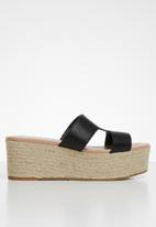Call It Spring - Woven wedge heel - black