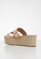 Call It Spring - Woven wedge heel - gold