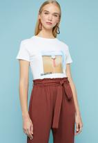 Superbalist - Placement printed tee - white
