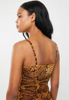 dailyfriday - Wrapover strappy bodycon - multi
