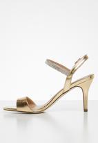 Call It Spring - Emerald stiletto heel - gold