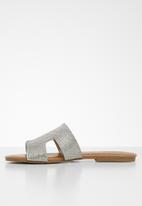 Call It Spring - Faux leather cut out sandal - silver