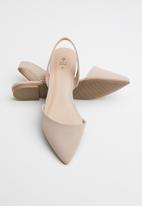 Call It Spring - Faux leather slingback ballerina - pink
