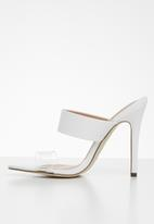 Call It Spring - Faux leather stiletto mule - white