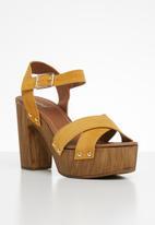 ALDO - Deleniel suede heel - yellow