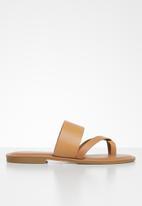 ALDO - Celodia leather sandal - cognac