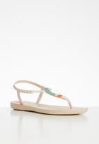 Ipanema - Class pop fem T-strap sandals - neutral