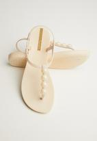 Ipanema - Class glam embellished T-strap sandals - neutral