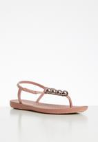 Ipanema - Class glam embellished T-strap sandal - pink