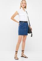 Superbalist - Denim slim fit mini skirt -  blue
