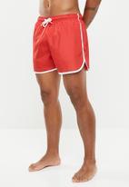 Brave Soul - Ennis swim shorts - red