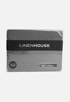 Linen House - Suedette bedwraps - castlerock grey