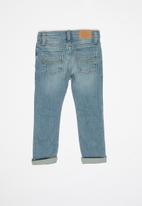 POLO - Boys logan distressed slim fit jean - blue