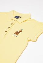 POLO - Girls dakota golfer dress - yellow