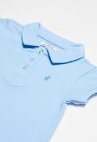POLO - Alex short sleeve babygrow - blue