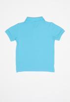 POLO - Boys austin short sleeve golfer - blue