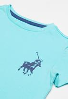POLO - Boys rick short sleeve tee - turquoise