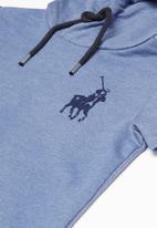 POLO - Boys Jason short sleeve hooded pullover - blue