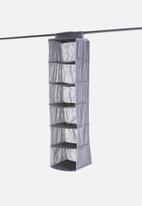 Storage Solutions - 6-tier wardrobe organiser - dark grey
