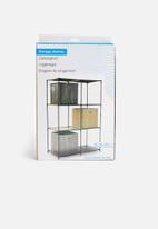 Storage Solutions - Double storage shelf - black