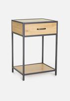 Sixth Floor - Seaford 1-drawer bedside table - natural