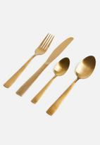 Excellent Housewares - Cutlery set 16 pcs - matte copper