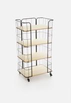 H&S - Metal display rack - black