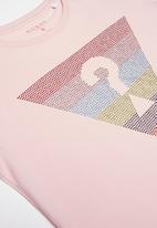 GUESS - Teens short sleeve rainbow tri tee - pink