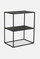 Sixth Floor - 2-layer side table small - black