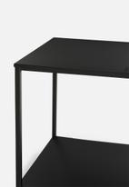 H&S - 2-layer side table small - black