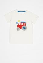 POP CANDY - Printed short sleeve tee - white