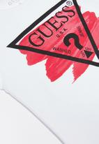 GUESS - Girls short sleeve guess swish tri tee - white
