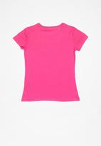GUESS - Teens short sleeve tri guess tee - pink