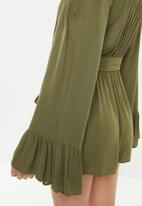 Missguided - Bardot playsuit - khaki