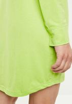 Missguided - Jersey shirt dress - green