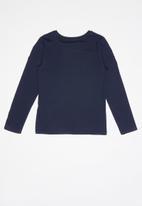 GUESS - Teens long sleeve leaf tri tee - blue