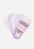 Cotton On - 5 pack low socks - multi