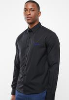 Pringle of Scotland - Mcneill long sleeve styled shirt - black
